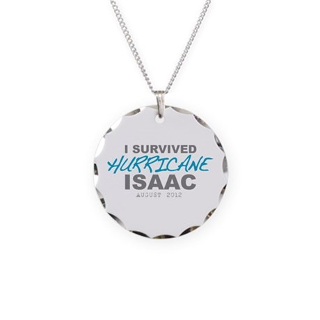 I Survived Hurricane Isaac Necklace Circle Charm