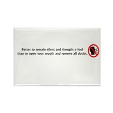 Better to remain silent Rectangle Magnet