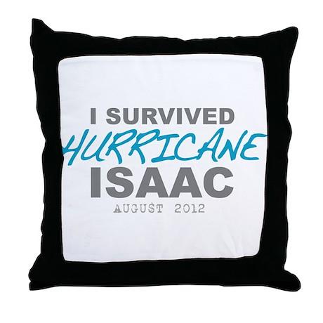 I Survived Hurricane Isaac Throw Pillow
