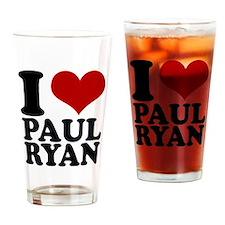 i heart Paul Ryan Drinking Glass