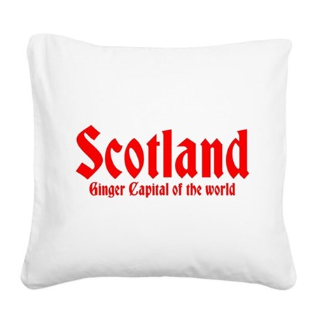 Scotland Ginger Capital Square Canvas Pillow