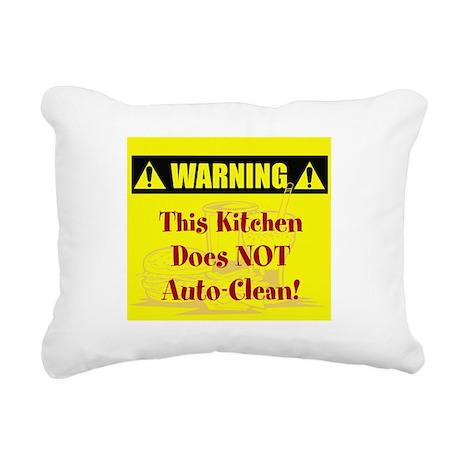 Kitchen Auto-Clean Rectangular Canvas Pillow