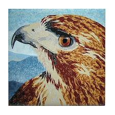 Mya-Red-tail Hawk Tile Coaster