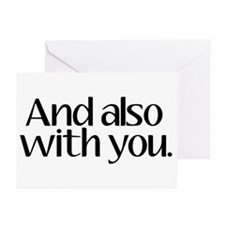 And Also With You Greeting Cards (Pk of 10)