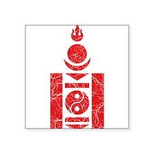 "Mongolia Roundel Square Sticker 3"" x 3"""