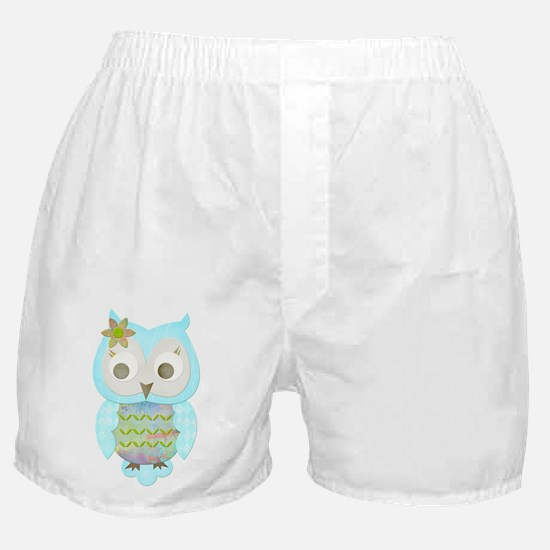 Flower Gypsy Owl Boxer Shorts