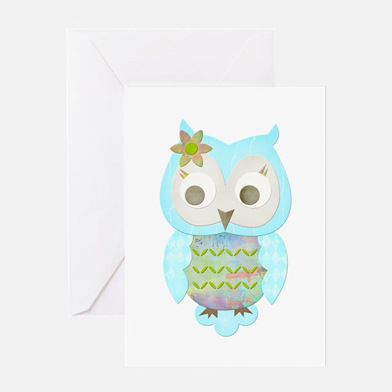 Flower Gypsy Owl Greeting Card