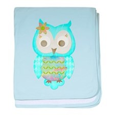 Flower Gypsy Owl baby blanket