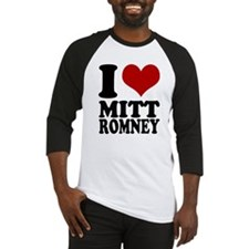 I heart Mitt Romney Baseball Jersey