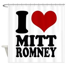 I heart Mitt Romney Shower Curtain