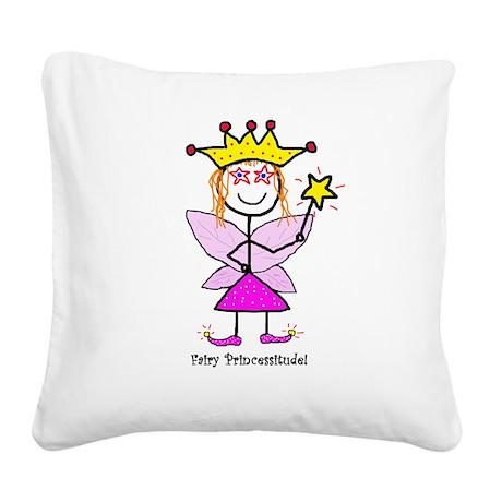 Fairy Princessitude! Square Canvas Pillow