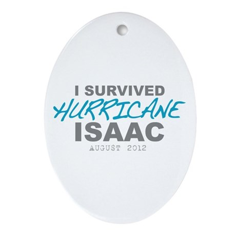 I Survived Hurricane Isaac Ornament (Oval)