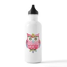 Pink Gypsy Owl Water Bottle