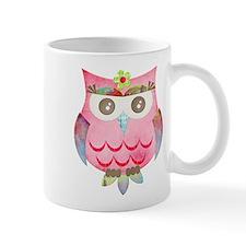 Pink Gypsy Owl Small Mug