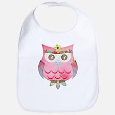 Pink Gypsy Owl Bib