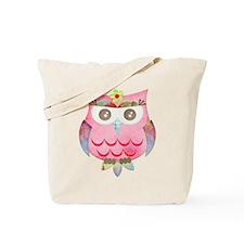 Pink Gypsy Owl Tote Bag