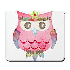 Pink Gypsy Owl Mousepad