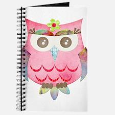 Pink Gypsy Owl Journal