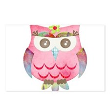 Pink Gypsy Owl Postcards (Package of 8)
