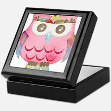 Pink Gypsy Owl Keepsake Box