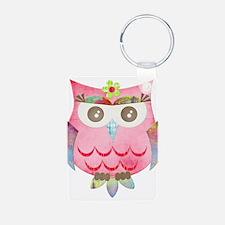 Pink Gypsy Owl Keychains
