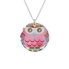 Pink Gypsy Owl Necklace
