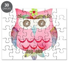 Pink Gypsy Owl Puzzle