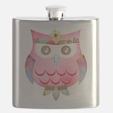 Pink Gypsy Owl Flask