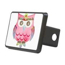 Pink Gypsy Owl Hitch Cover