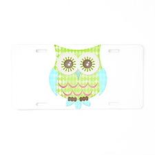 Bright Eyes Owl Aluminum License Plate