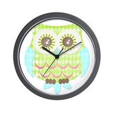 Bright Eyes Owl Wall Clock