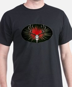 European skull mount,red T-Shirt