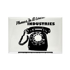 Phones In A Circle Industries Rectangle Magnet