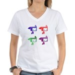 Women's Multicolor Tylted T-Shirt