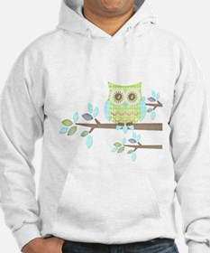 Bright Eyes Owl in Tree Hoodie