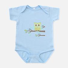 Bright Eyes Owl in Tree Infant Bodysuit