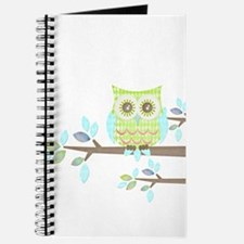 Bright Eyes Owl in Tree Journal