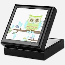 Bright Eyes Owl in Tree Keepsake Box