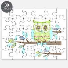 Bright Eyes Owl in Tree Puzzle