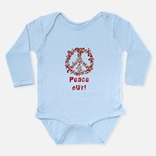 Attraction PeaceOut V Long Sleeve Infant Bodysuit