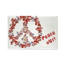 Attraction PeaceOut H Rectangle Magnet