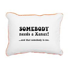 Xanax Rectangular Canvas Pillow