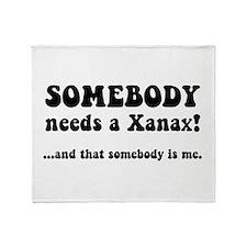 Xanax Throw Blanket