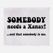 Xanax Throw Blanket