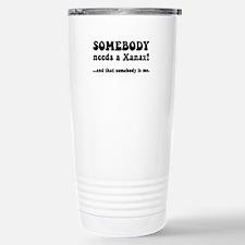 Xanax Stainless Steel Travel Mug