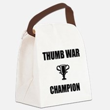 thumb war champ Canvas Lunch Bag