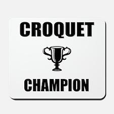 croquet champ Mousepad