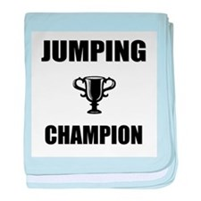 jumping champ baby blanket