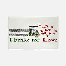 I Brake For Love Rectangle Magnet