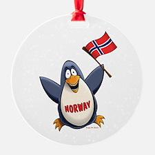 Norway Penguin Ornament